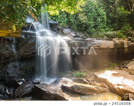 Little rainforest waterfall at Koh Kood 24516308