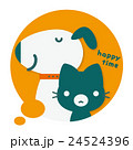 犬 猫 フキダシのイラスト 24524396