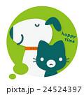 犬 猫 フキダシのイラスト 24524397