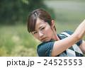 Japanese woman golfer , housewife 24525553