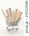 ショッピングカートの材木 24532696
