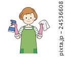 主婦 家事 掃除のイラスト 24536608