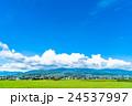 【長野県】田園風景と夏空 24537997