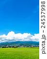 【長野県】田園風景と夏空 24537998