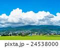 【長野県】田園風景と夏空 24538000