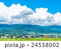 【長野県】田園風景と夏空 24538002