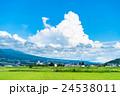 【長野県】田園風景と夏空 24538011