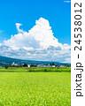 【長野県】田園風景と夏空 24538012