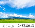 【長野県】田園風景と夏空 24538013