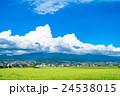 【長野県】田園風景と夏空 24538015