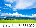 【長野県】田園風景と夏空 24538022