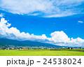 【長野県】田園風景と夏空 24538024