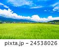 【長野県】田園風景と夏空 24538026