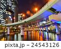 高速道路 ビル ビル群の写真 24543126