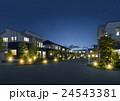 夜 住宅街 街並のイラスト 24543381