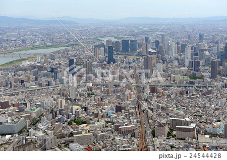 大阪市福島区を空撮の写真素材 [24544428] - PIXTA