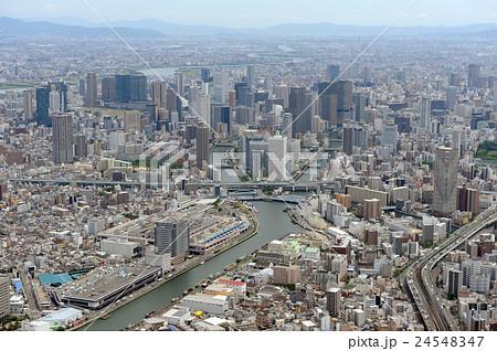 大阪市福島区上空から空撮 24548347