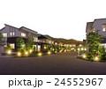 住宅街 街並 ライトアップのイラスト 24552967