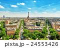 Beautiful panoramic view of Paris  24553426