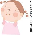 女の子 子供 見上げるのイラスト 24556806