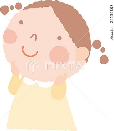 考えているいる女の子のイラスト素材 24556808 Pixta