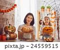 family preparing for Halloween. 24559515