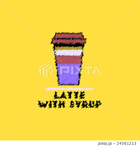flat vector icon design collection latte withのイラスト素材 [24561213] - PIXTA