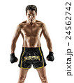 Muay Thai kickboxing kickboxer boxing man isolated 24562742