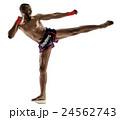 Muay Thai kickboxing kickboxer boxing man isolated 24562743