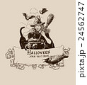 Vintage halloween witch potion poster vector 24562747