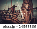 Viking warrior with sword and shield standing near 24563366