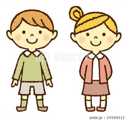 幼児 男の子 女の子 全身のイラスト素材 24568312 Pixta