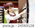 スーパー スーパーマーケット 店員 スタッフ 女性 人物 小売業 24569128