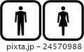 男性と女性のピクトグラム 24570988