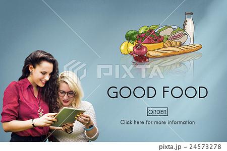 Good Food Good Mood Eating Nutrition Organic Concept 24573278