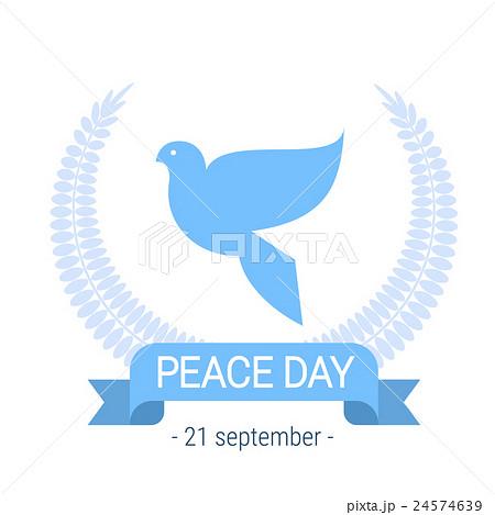 World Peace Day Poster White Dove Bird Symbol 24574639