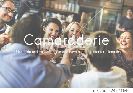 Camaraderie Carefree Chill Friends Togetherness Concept 24574640