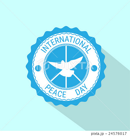 World Peace Day Icon White Dove Bird Symbol 24576017