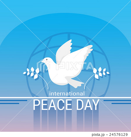 World Peace Day Poster White Dove Bird Symbol 24576129