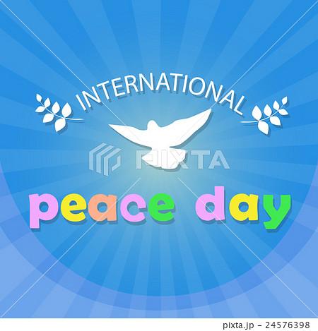 World Peace Day Poster White Dove Bird Symbol 24576398