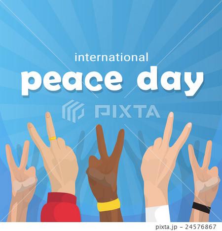 Hand Group Peace Sign World International Holiday 24576867