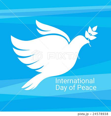 World Peace Day Poster White Dove Bird Symbol 24578938