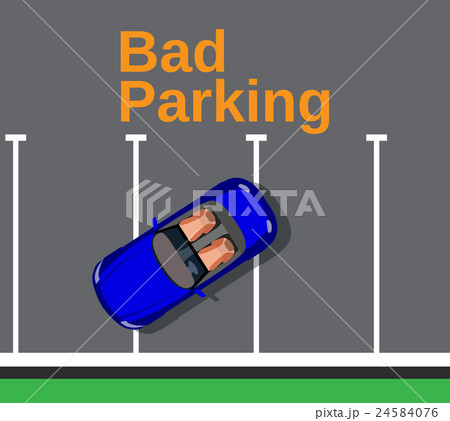 Bad parking. Car blocked the crosswalk  24584076