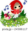 可愛い赤ずきんのイラスト 24586117