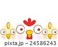 酉 鶏 ひよこのイラスト 24586243