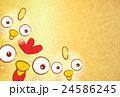 酉 鶏 ひよこのイラスト 24586245