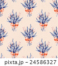 Bouquet. Flowers and bow. Seamless pattern 2 24586327