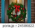 Christmas wreath on the door 24586822