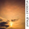 空 夕焼け 夕日の写真 24590714