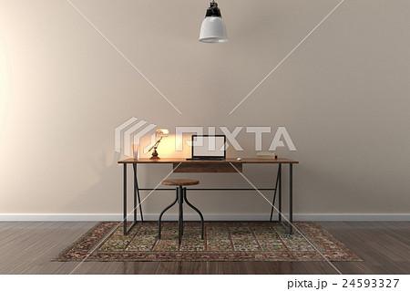 work desk in empty roomのイラスト素材 24593327 pixta